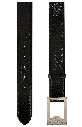 Мужской ремень из кожи питона BILLIONAIRE черного цвета, арт. I20A MVA0545 BLE003P | Фото 2