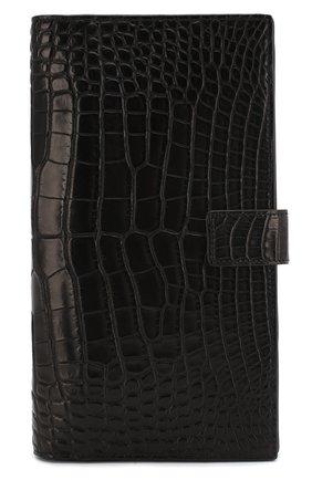 Мужской портмоне из кожи аллигатора ZILLI черного цвета, арт. MJL-0WT01-10100/0001/AMIS | Фото 1