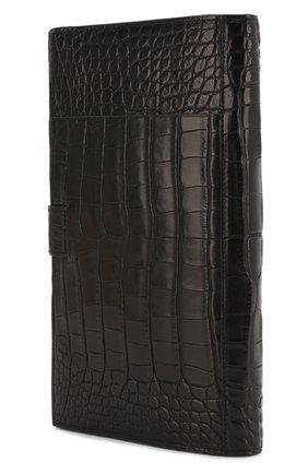 Мужской портмоне из кожи аллигатора ZILLI черного цвета, арт. MJL-0WT01-10100/0001/AMIS | Фото 2