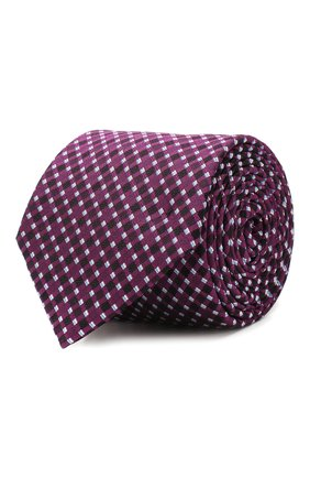 Мужской шелковый галстук BOSS бордового цвета, арт. 50434739 | Фото 1