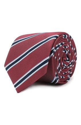 Мужской шелковый галстук BOSS красного цвета, арт. 50434891 | Фото 1