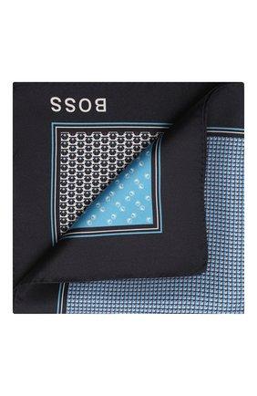 Мужской шелковый платок BOSS синего цвета, арт. 50433797   Фото 1
