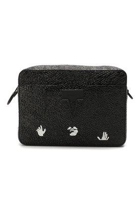 Мужская кожаная сумка OFF-WHITE черного цвета, арт. 0MNA070T20LEA0011000 | Фото 1