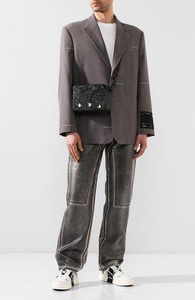 Мужская кожаная сумка OFF-WHITE черного цвета, арт. 0MNA070T20LEA0011000 | Фото 2