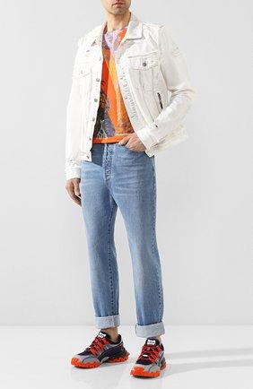 Мужские джинсы BALMAIN синего цвета, арт. TH05754/Z647 | Фото 2
