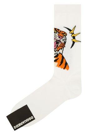 Мужские носки DSQUARED2 белого цвета, арт. DFV141870 | Фото 1