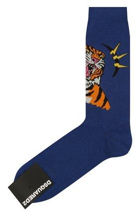 Мужские носки DSQUARED2 темно-синего цвета, арт. DFV141870 | Фото 1
