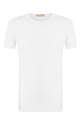 Мужская льняная футболка DANIELE FIESOLI белого цвета, арт. DF 1235 | Фото 1