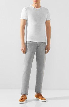 Мужская льняная футболка DANIELE FIESOLI белого цвета, арт. DF 1235 | Фото 2