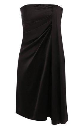 Женское шелковое платье DOLCE & GABBANA черного цвета, арт. F6H80T/FU1AU | Фото 1