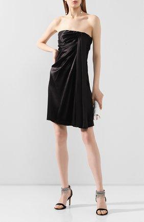 Женское шелковое платье DOLCE & GABBANA черного цвета, арт. F6H80T/FU1AU | Фото 2