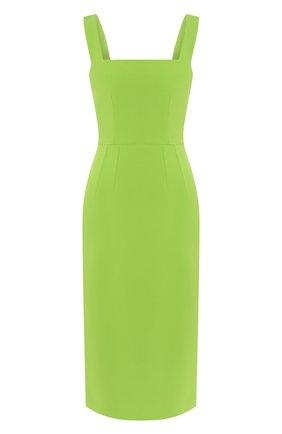 Женское платье-миди DOLCE & GABBANA зеленого цвета, арт. F6H4UT/FURDV | Фото 1