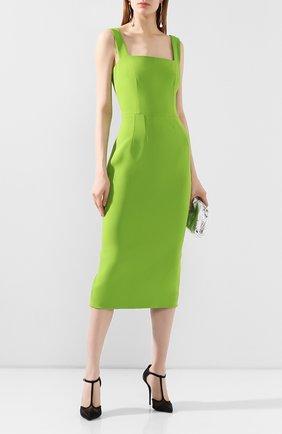 Женское платье-миди DOLCE & GABBANA зеленого цвета, арт. F6H4UT/FURDV | Фото 2