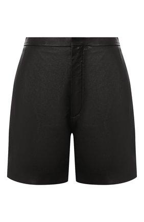 Женские кожаные шорты SAINT LAURENT черного цвета, арт. 622197/YC2ZZ | Фото 1