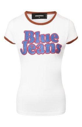 Женская хлопковая футболка DSQUARED2 белого цвета, арт. S72GD0218/S23009 | Фото 1