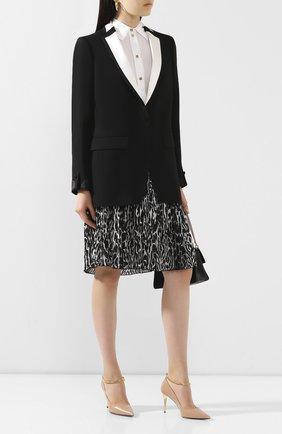 Женская шелковая блузка BURBERRY белого цвета, арт. 4564180 | Фото 2