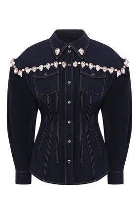 Женская джинсовая рубашка DOLCE & GABBANA темно-синего цвета, арт. F5L87Z/G899X   Фото 1