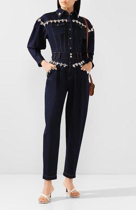 Женская джинсовая рубашка DOLCE & GABBANA темно-синего цвета, арт. F5L87Z/G899X   Фото 2