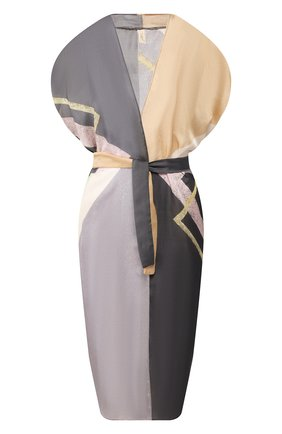 Женское платье с поясом GOTTEX светло-серого цвета, арт. 20MA711   Фото 1