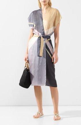 Женское платье с поясом GOTTEX светло-серого цвета, арт. 20MA711   Фото 2