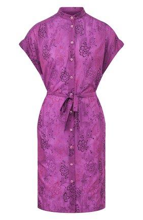 Женское туника из смеси хлопка и шелка VILEBREQUIN фиолетового цвета, арт. FCNU0W25 | Фото 1