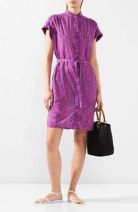 Женское туника из смеси хлопка и шелка VILEBREQUIN фиолетового цвета, арт. FCNU0W25 | Фото 2