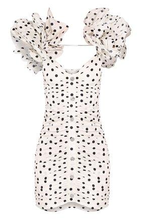 Женское шелковое платье ALESSANDRA RICH белого цвета, арт. FAB2090-F2784 | Фото 1