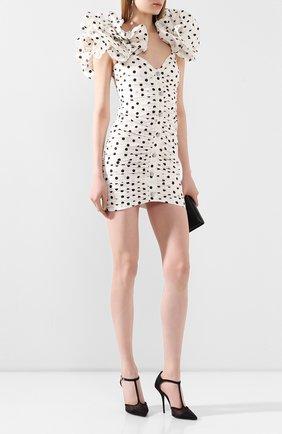 Женское шелковое платье ALESSANDRA RICH белого цвета, арт. FAB2090-F2784 | Фото 2