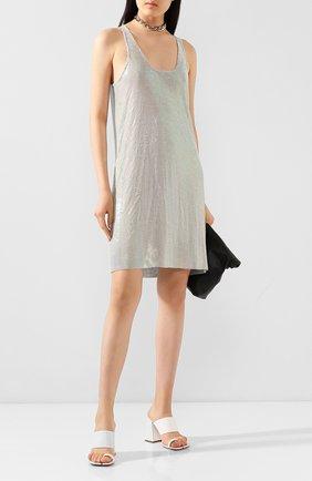 Женское платье RICK OWENS серебряного цвета, арт. R020S1583/CNM   Фото 2