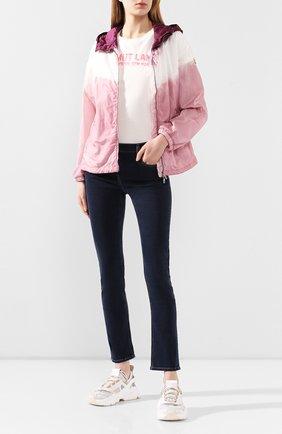 Женская куртка olive MONCLER розового цвета, арт. F1-093-1A722-60-C0474 | Фото 2