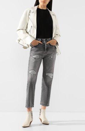 Женские джинсы ACNE STUDIOS серого цвета, арт. A00090/W | Фото 2