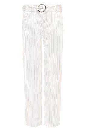 Женские льняные брюки MAX&MOI белого цвета, арт. E20TAHITI | Фото 1