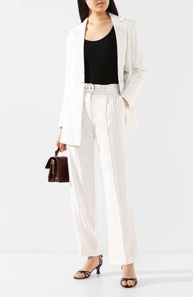 Женские льняные брюки MAX&MOI белого цвета, арт. E20TAHITI | Фото 2