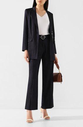 Женские льняные брюки MAX&MOI синего цвета, арт. E20TAHITI | Фото 2