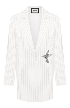 Женский льняной жакет MAX&MOI белого цвета, арт. E20VENISE | Фото 1