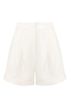 Женские льняные шорты LE KASHA белого цвета, арт. CESAREE   Фото 1