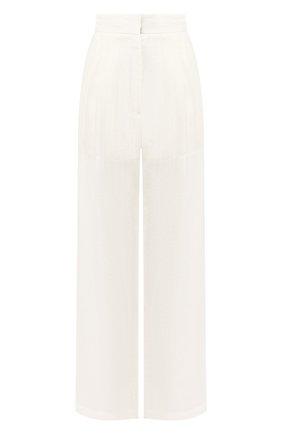Женские льняные брюки LE KASHA белого цвета, арт. S0HAG00   Фото 1