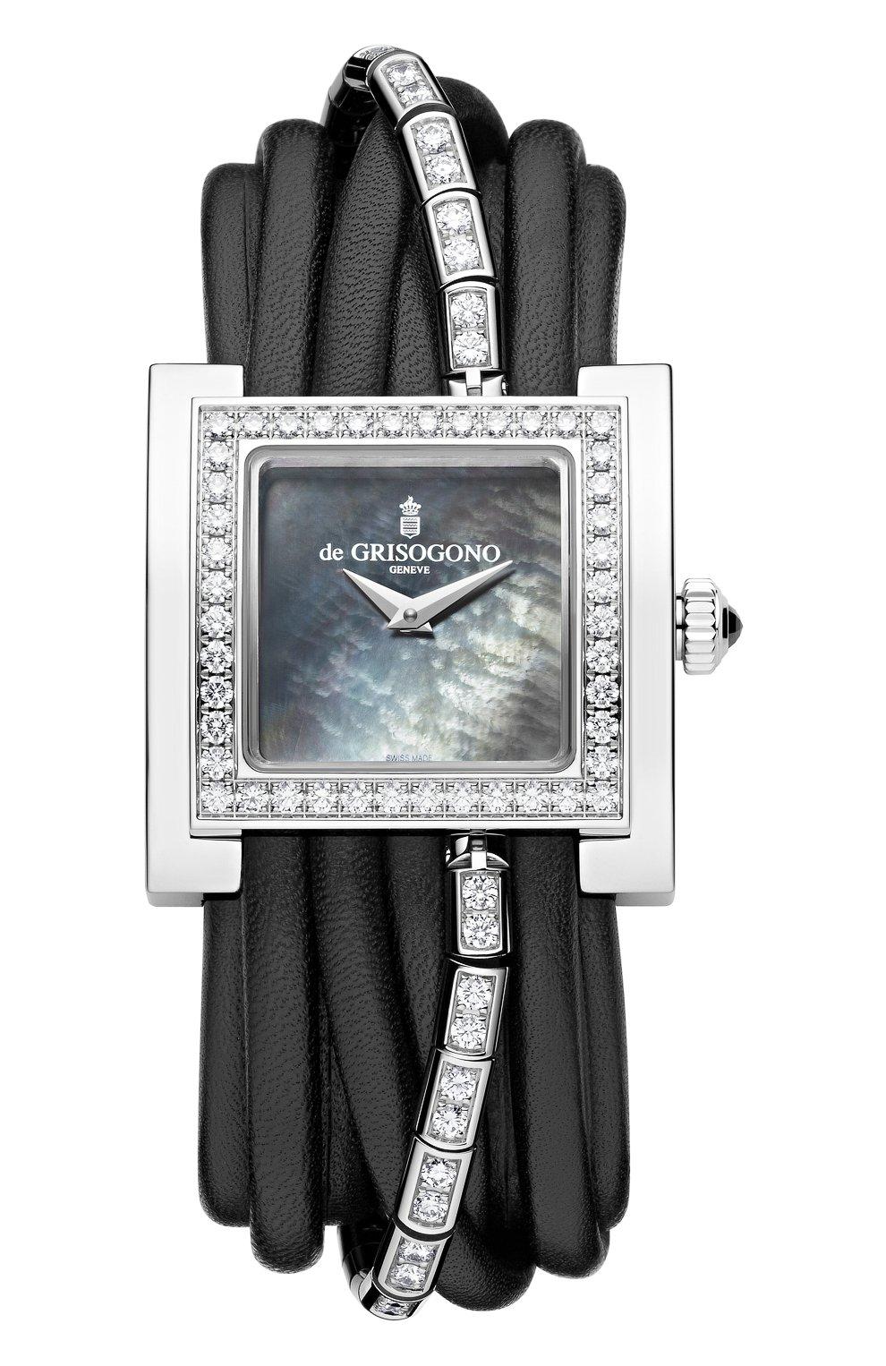 Женские часы white gold diamonds DE GRISOGONO перламутрового цвета, арт. ALLEGRA S06/1B | Фото 1