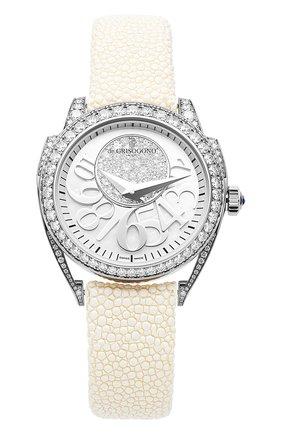 Женские часы white gold diamond DE GRISOGONO перламутрового цвета, арт. ECCENTRICA S06 | Фото 1