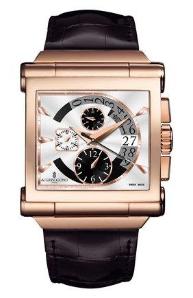 Мужские часы rose gold chrono DE GRISOGONO серебряного цвета, арт. GRANDE CHRONO N02 | Фото 1