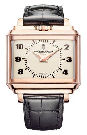 Мужские часы panoramic rose gold white DE GRISOGONO белого цвета, арт. NEW RETRO N03 | Фото 1
