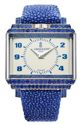 Женские часы white gold sapphires DE GRISOGONO белого цвета, арт. NEW RETRO W S02 | Фото 1