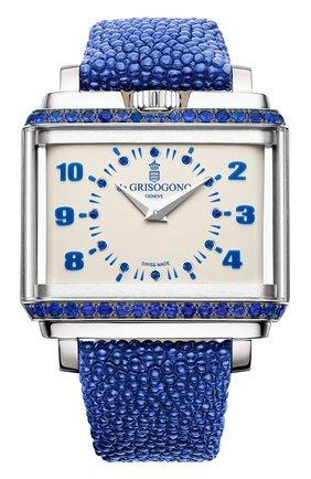 Женские часы white gold sapphire DE GRISOGONO белого цвета, арт. NEW RETRO W S06 | Фото 1