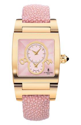 Женские часы dual time yellow gold DE GRISOGONO розового цвета, арт. TINO N03/A  AT | Фото 1