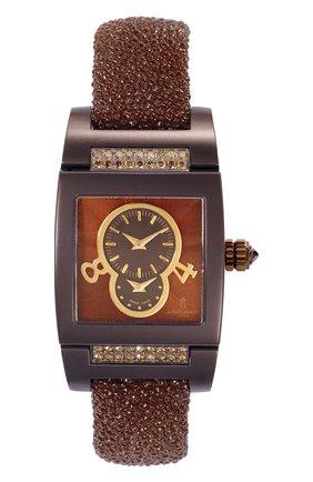 Женские часы dual time brown matt DE GRISOGONO коричневого цвета, арт. TINO S16 AT | Фото 1