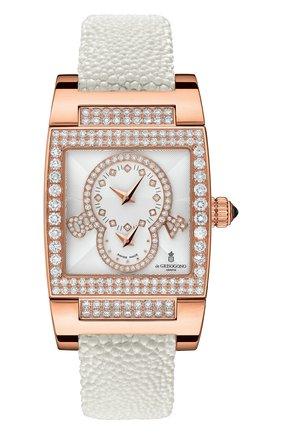 Женские часы dual time rose gold DE GRISOGONO белого цвета, арт. TINO S36 AT | Фото 1
