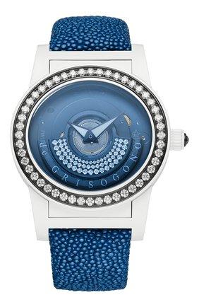 Женские часы white blue DE GRISOGONO черного цвета, арт. TONDO BY NIGHT S01 GB | Фото 1