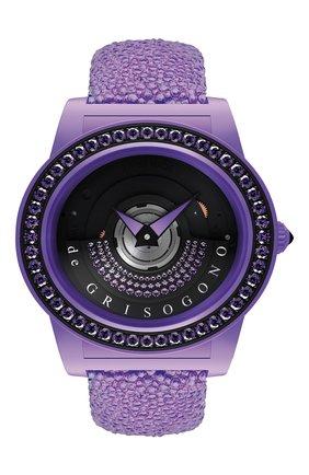 Женские часы purple DE GRISOGONO черного цвета, арт. TONDO BY NIGHT S05 | Фото 1
