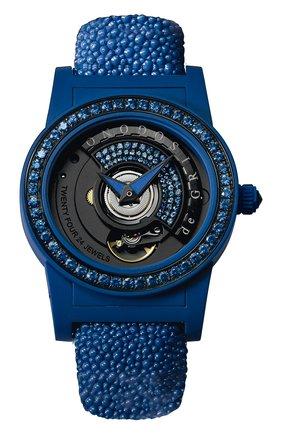 Женские часы blue DE GRISOGONO черного цвета, арт. TONDO BY NIGHT S07 | Фото 1