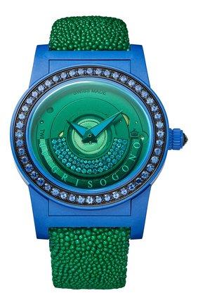Женские часы blue green DE GRISOGONO черного цвета, арт. TONDO BY NIGHT S07 GV | Фото 1